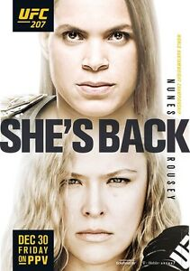 UFC 207 Official Event Poster Rousey Vs Nunes 27x39 Brand New Fight Shop MMA