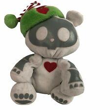 Skelanimals ChungKee Panda Bear Gray Jakks Heart Red Green Hat Plush