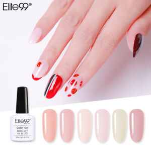 10ML French Nude Colour Gel Nail Polish UV LED Manicure Top Base Lacquer
