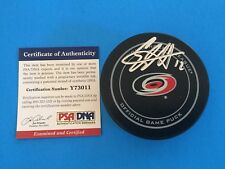 Eric Staal Hurricanes Hockey Signed Puck Auto PSA/DNA COA