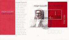 2003 Australia - High Court Centenary mini sheet FDI FDC