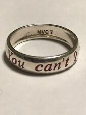 """Sterling Silver Engraved """"You Can't Stop Me"""" Breast Cancer Ring Size 7"""