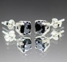 2.30tcw Real Natural Black Diamond Stud Earrings AAA Grade & $1350 Value....