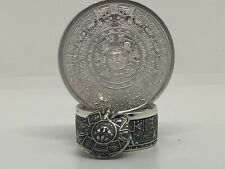 Aztec hand made coin ring .999 Silver Sizes(6-18)