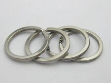 20 Stainless Steel Round Split Rings Key Rings 30mm Keychain Accessories