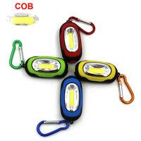 Novelty New Mini COB Light LED FlashLight Key Ring Torch 3-Mode Keychain Lamp