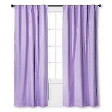 Target Twill Light Blocking Curtain Panel Pillowfort Lavender 54 x 84 new