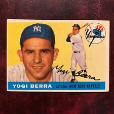 1955 Topps Set YOGI BERRA rare high #198 NEW YORK YANKEES - VG-EX