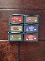 Nintendo Gameboy GBA The Legend of Zelda Series Four Swords Minish Cap .Repro