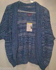 Laura Scott NWT Womens Light/Dark Blue/White Design Sweater Cover Top Size L