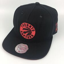 Mitchell & Ness NBA Toronto Raptors Black Red Snapback Cap Adjustable Hat 2015