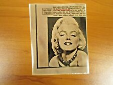 Vintage AP Wire Press Photo Actress Marilyn Monroe, Some Like it Hot, Misfits #9