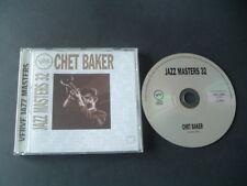 CHET BAKER. JAZZ MASTERS 32. IMMACULATE 16 TRACKS POLYGRAM CD. FREE UK POST.