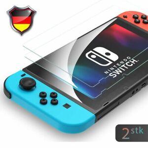 2X Panzerfolie für Nintendo Switch Display Zubehör Schutzglas Cover Hart 9H Glas