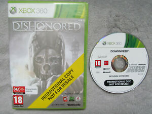 Dishonored Game for Microsoft Xbox 360 Consoles MINT PROMOTIONAL COPY PROMO