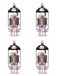 4x ECC83S Gold Pin JJ-Electronic NUOVE NEW QUARTETTO QUAD MATCHED 12AX7 ECC83