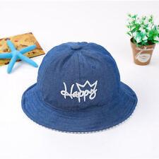 Summer Newborn Baby Boy Girl Kids Cowboy Infant Sun Cap Cotton Beanie Bucket Hat