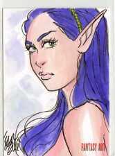 Fantasy Art Sketch Card by Elfie Lebouleux /4 - Unstoppable Loaded Pack Release