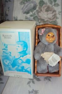 RAIKES BEAR ALLISONw/cradle AND TAG 1990 Nursery Collection Excellent condition