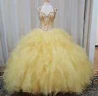 NEW Vizcaya by Mori Lee XV Sweet 16 Prom Quinceanera Dress 89014 Gold Size 8