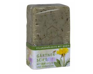 Gärtnerseife mit Bimsstein und Rosmarien Pflanzliche Natur Garten Kräuter Seife