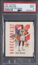 PSA 9 KARL MALONE 1991-92 SKYBOX MARK & SEE MINIS DREAM TEAM USA UTAH JAZZ MINT