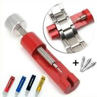 Metal Adjustable Watch Band Bracelet Repair Tool Link Pin Remover + 3 Pins UK