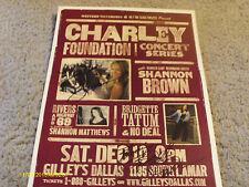 Autographed Shannon Brown & Bridgette Tatum 2005 Concert Poster