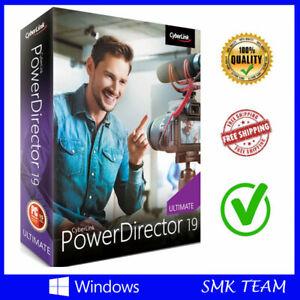 Cyberlink PowerDirector 19 Ultimate Video Editor LifeTime Licence For Windows