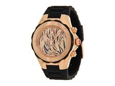 MICHELE TAHITIAN BLACK JELLY BEAN LARGE LEONARD Rose GOLD WATCH MWW12F000054