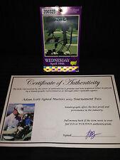 Adam Scott Signed Autographed Masters Winner Golf Ticket Pass-Exact Proof Coa