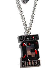 Darkside Zombie Killer 13 Horror Blood Splatter Enamel Metal Pendant Necklace