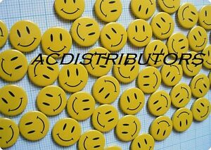 BULK LOT 360 Smiley Face Small Badges - Pinback Button Pins GREAT VALUE
