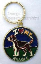I Love My BEAGLE  Dog Key Ring Keychain Key Chain NEW! Cute! Animal Pet