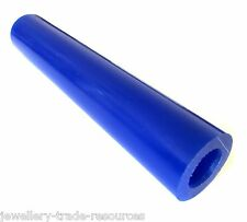 BLUE CARVING WAX Ø 28mm RING TUBE JEWELLERY LOST WAX CASTING 15mm CENTRE HOLE