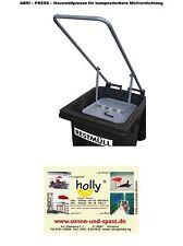 HAUSMÜLLPRESSE 240 Liter - MÜLLVERDICHTER - STAHLROHR - Holly Produkte STABIELO