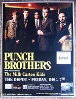 PUNCH BROTHERS 2012 Gig POSTER Salt Lake City Concert Utah CHRIS THILE