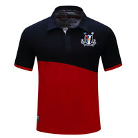 Mens Polo T-Shirts Short Sleeves Casual Sewn Designed Sports Tee Multicolor D129