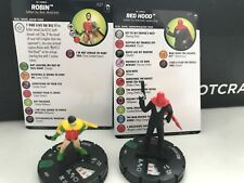 ROBIN & RED HOOD Lot x2 Heroclix NEW Unused DC Joker's Wild 017 027