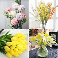 1PC Miniature Colorful Flowers Fashion Home Decoration Clay Handmade Collectible