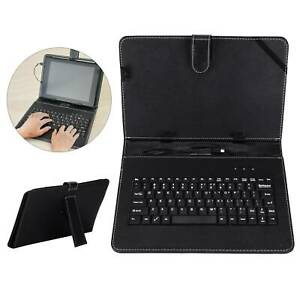 "Leather Keyboard Case+USB With Stand Cover Black for 10"" inch Android Tablet UK"
