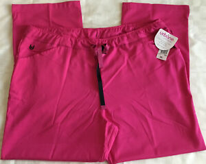 Urbane Ultimate Womens Scrub Pants Medical Stretch Hot Pink Easy Care Sz 2XL