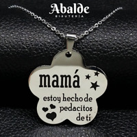 Collar Joya Mujer Acero Inoxidable Mamá Eres Única Regalo Madre Regalo ideal