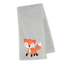 Bedtime Originals Woodland Friends Gray Fleece with Orange Fox Baby Blanket