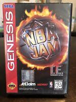 NBA Jam T.E. (Sega Genesis, 1995) CIB Video Game *UNTESTED* Used