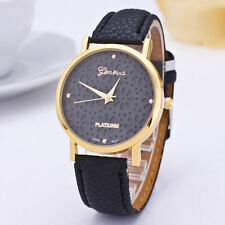 Ladies Gold Geneva Platinum Range Quartz Snow Flake Black Faced Wrist Watch.