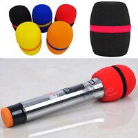 Hot 10 PCS Colorful Handheld Microphone Foam Mic Cover Karaoke Sponge Foam Cover