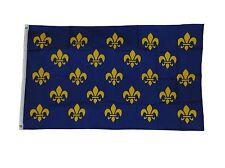 Small Fleur De Lis Blue French France Sq Flag Size 3 X 5 3x5 Feet Polyester New