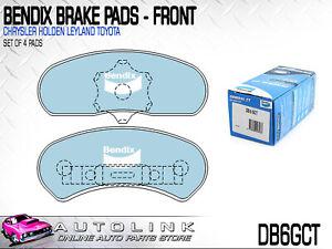 BENDIX DB6GCT FRONT BRAKE PADS FOR CHRYSLER CENTURA KB KC 6cyl PBR CALIPER 75-78