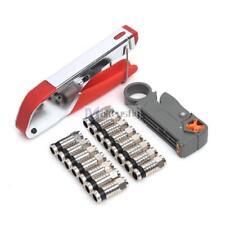 Compression Tool Kits F BNC RCA RG6 RG59 Connector Cable Coax Coaxial Crimper